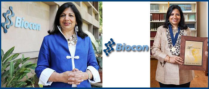Kiran Mazumdar-Shaw is the Chairman of BioconLtd